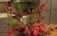 How to Create a Christmas Evergreen Arrangement with Cardinals