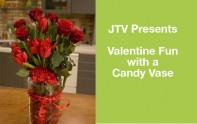 How to make an arrangement in a Candy Filled Vase