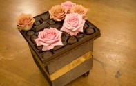 How to make a centerpiece with rose and chocolate