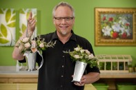 How to create a Pew Decoration that doubles as a Reception Centerpiece in a 1/2 Mint Julep Cup!