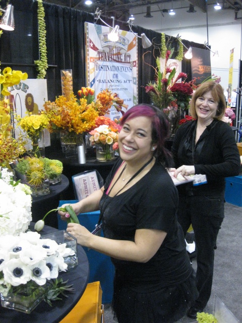 Laura London and Isabelle Buckley from Mayesh at Caterer Souce in Las Vegas
