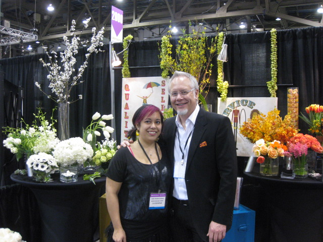Me and My Gal Pal Laura London at the Mayesh Booth in Las Vegas