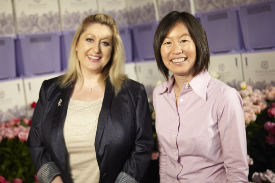 Janet Louie Owner of Green Valley Floral and Debbie Remblence Vice President of USA Sales for David Austin Roses