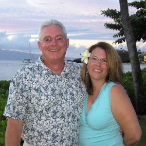 Kristi Landphere and husband Michael on vacation in Maui