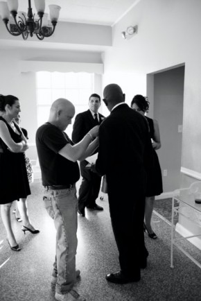 Scott Darhower working some wedding magic
