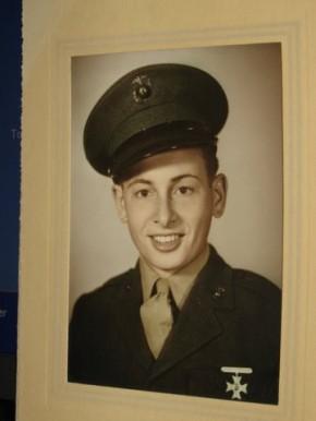 Mel Schwanke, Marine Corps Boot Camp Photo, World War II