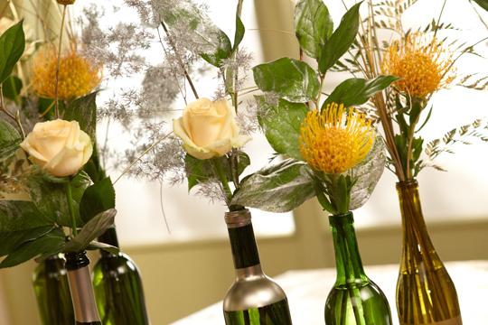 How To Arrange Flowers Wine Bottle Collection Centerpiece Ubloom