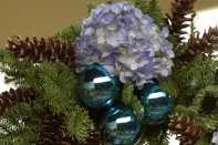 Christmas Wreath and Tree Decorating with Fresh Hydrangeas
