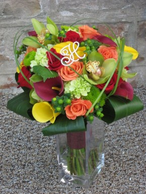 Monogram Bridal Bouquet by Blooming Envy, LLC