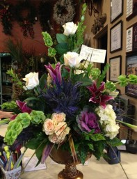 The Winning Signature Arrangement from Steven Santos, J. Michaels Florist!