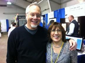 J with Elizabeth Crisp from Apple Creek Flowers at NEFE!