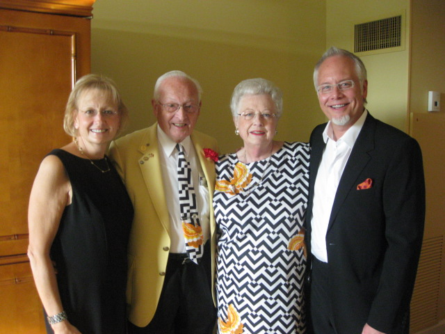 J with his mom (Joey), dad (Mel), and sister, Cindy