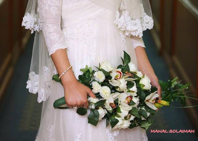 Wedding Bouquet create by Manal Mohammad, Club uBloom Member from Cairo Egypt