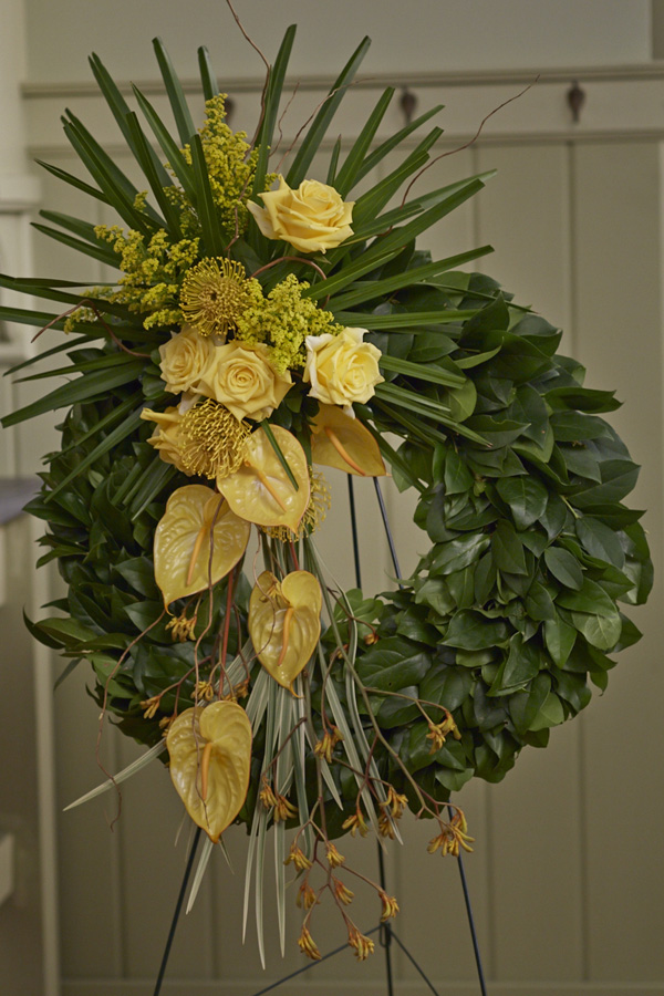 A Simply Sympathy form decorated with yellow flowers... Fast & Easy!