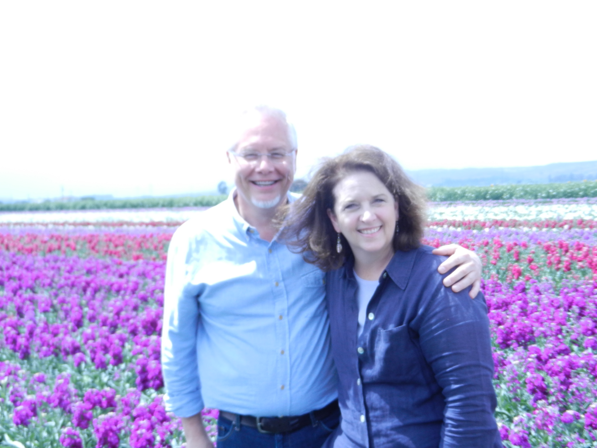 Debra and J in the Stock Fields at Ocean View Flowers during the NorCal 2014 Event!
