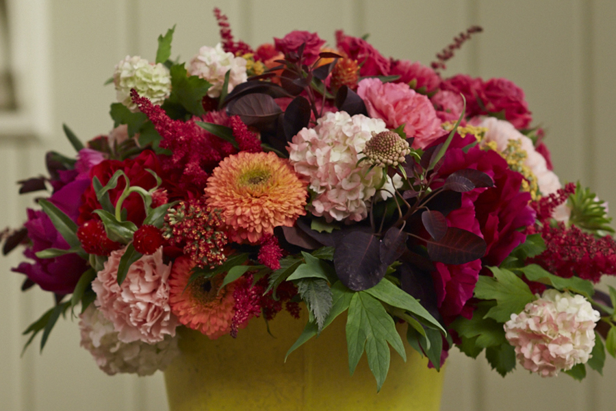 """This week's gorgeous garden bouquet - delicately and delightfully """"shifted in color"""" to match Coral Charm and Fuchsia Tree Peonies!"""