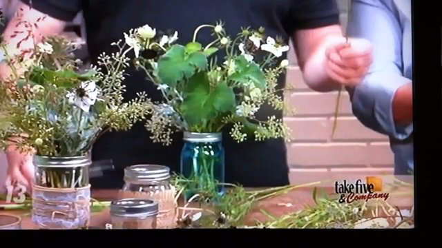 Take 5 with J - Mason Jar Arrangements