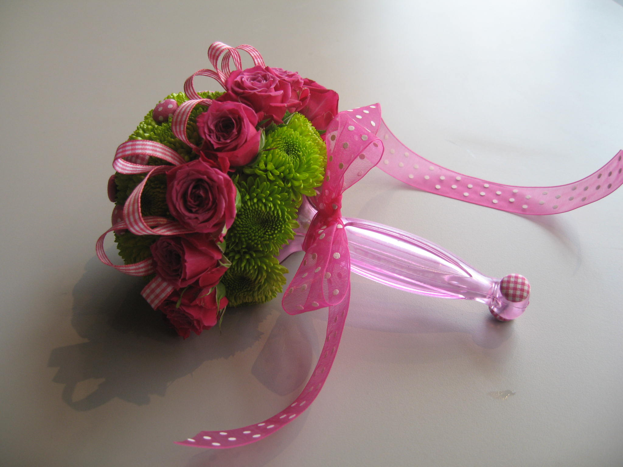 Use the gala bouquet holder to create a flower filled baby rattle to welcome the NEW Baby!