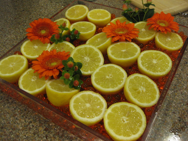 Fun Fresh Lemons and Flowers