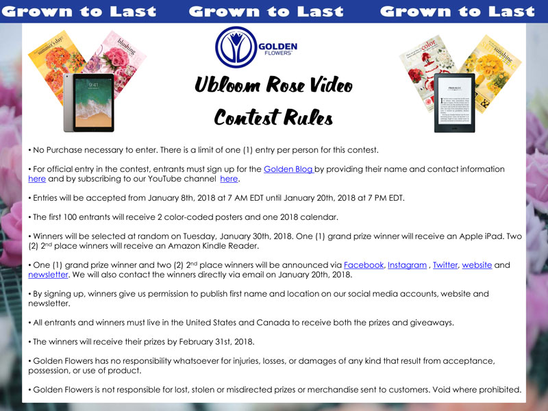 Rose-Video-Giveaway-Contest-Rules