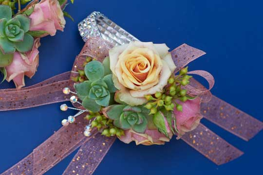 Ribbon Based Corsage and Boutonniere