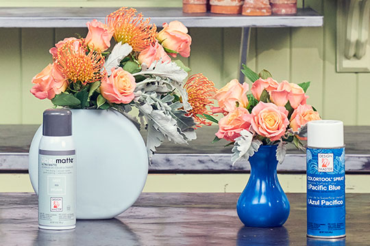 Repurposing Vases with Design Master Colors!