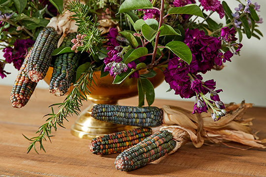 Thanksgiving Centerpiece with Stained Glass Corn
