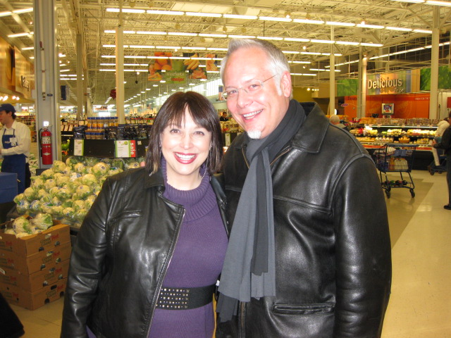 This is the day that Kim Carson and I met- at the Meijer Grocery Store- she was doing a live broadcast!