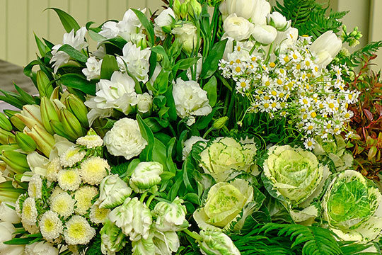 Colossal All White Flower Arrangement!