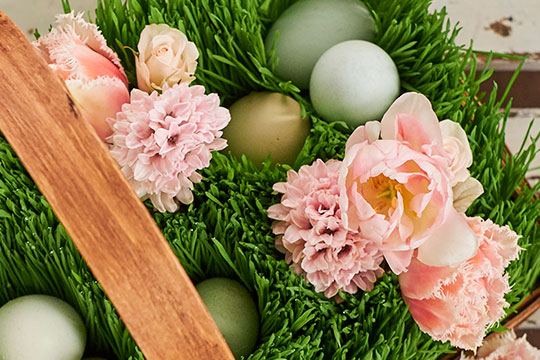 Easter Centerpiece with Hidden Eggs