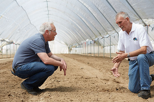 Benno explains the benefits of the soil on his farm Midcoast in California!