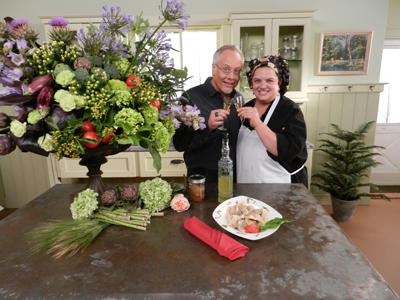 J & Chef Jenna On Fun with Flowers & J