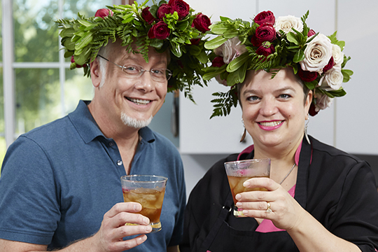 Chef Jenna and J enjoy a Rose Vodka Spritzer on Life in Bloom!