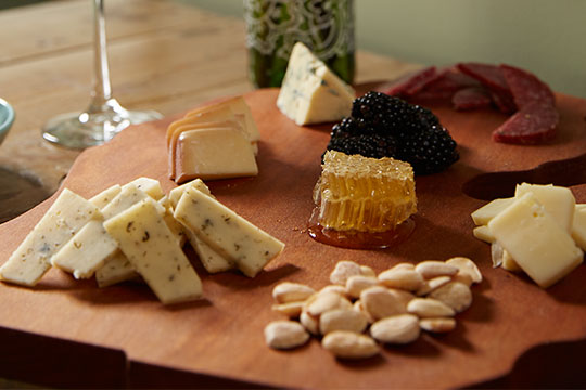 Featuring Cheese from the Cheese People of Grand Rapids and local honey and black berries.