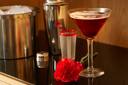 Carnation Joe's Classic Manhattan served up with a side of Red Carnation!