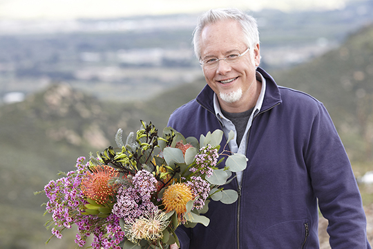 Hand tied Protea with J