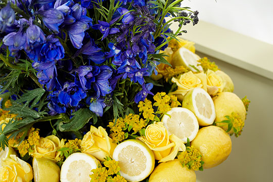 J Schwanke's Life in Bloom shows tips and tricks for including Fruit in your Flower arrangements!