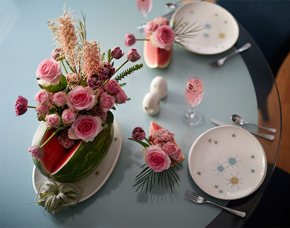 You can arrange flowers directly into a watermelon and it makes a great centerpiece!