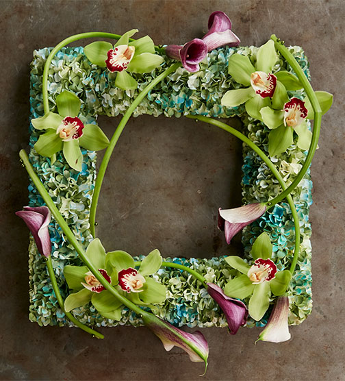Inspired by J's Friend Mandy Majerik- J recreates this wreath with orchids and calla lilies!