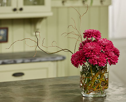 Using the Hana Kubari Technique - J creates a flower support system using natural branches that are exposed on Life in Bloom!