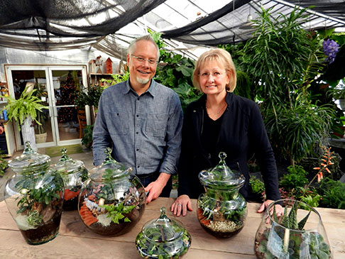 J's Sister Cindy teaches us to create magical terrariums on J Schwanke's Life in Bloom!
