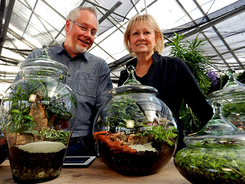 Terrariums take center stage with J and his sister Cindy on location in Fremont Nebraska!