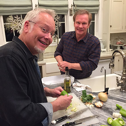 Allen invites J to join in the cooking festivities at Moss Mountain Farm