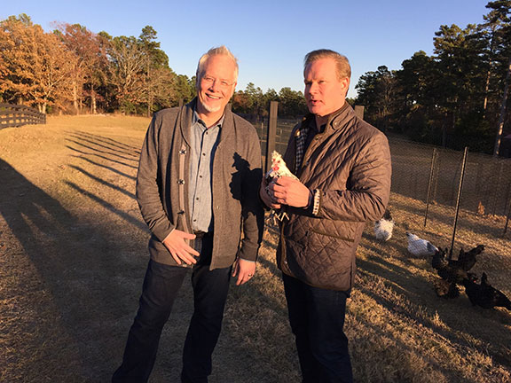 J and Allen during the Life in Bloom Filming at Poultryville on Moss Mountain Farm!