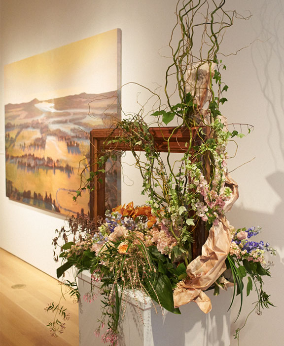 My Friend Gary Wells AIFD created this interpretation in flowers from Art at the Grand Rapids Art Museum.