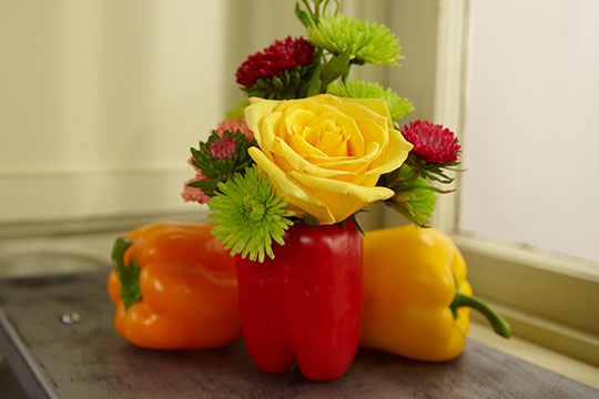 Flower Lesson - Arranging Flowers in Vegetables!