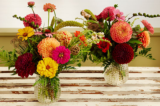 Learn to make simple bouquets with a few flowers from the Garden on Life in Bloom!