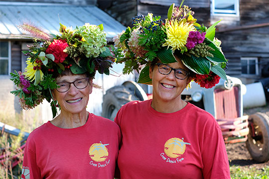 Mary Wills and Jill Johnson- the amazing ladies behind Crane Dance Farm