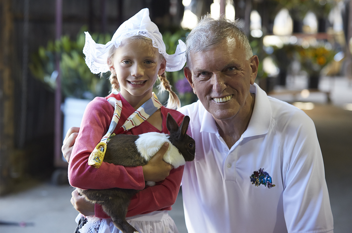 Benno and his Grand-daughter- in authentic Dutch Costume- and of course a Dutch Bunny!