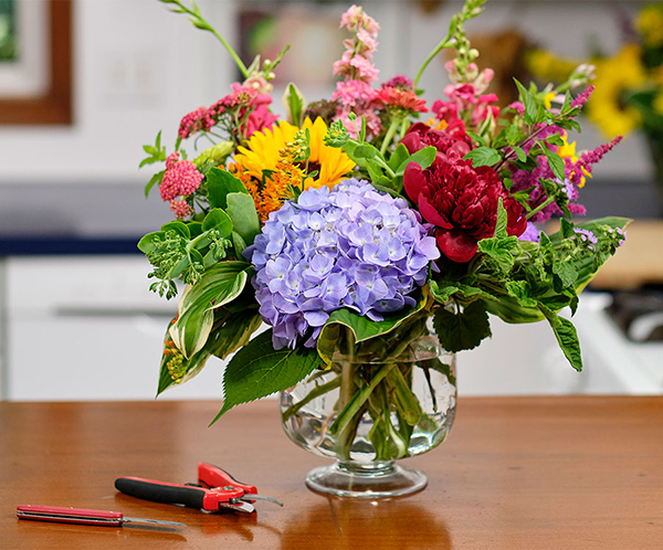 Create Flower Arrangements from the Garden